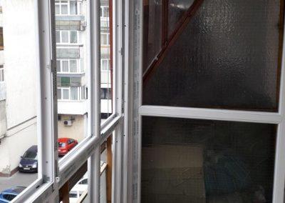 Montaj tamplarie PVC la balcon